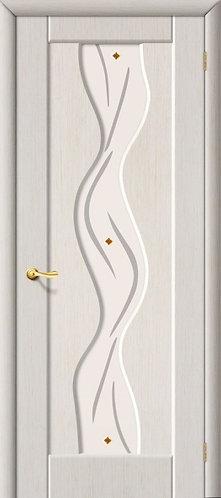 Межкомнатная дверь с покрытием ПВХ Вираж ДО / беленый дуб