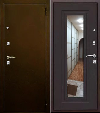 входная дверь Царское зеркало (антик медь/венге)