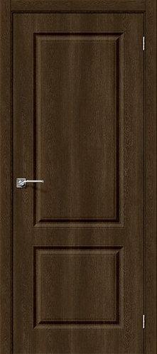 Межкомнатная дверь с покрытием ПВХ Скинни-12 /Dark Barnwood