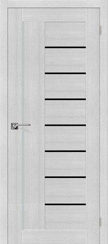 Межкомнатная дверь экошпон ST-9m Black / Bianco Veralinga