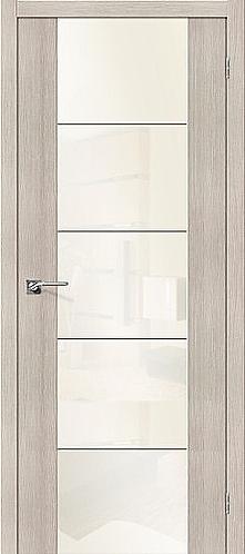 Межкомнатная дверь экошпон V4 / Cappuccino Veralinga
