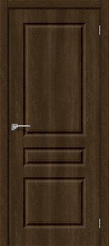 Межкомнатная дверь с покрытием ПВХ Скинни-14 /Dark Barnwood