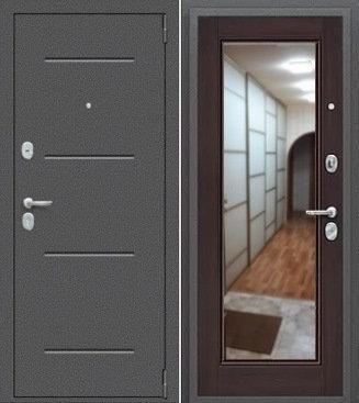 входная дверь Porta Флэш (Антик Серебро/Wenge Veralinga)