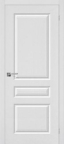 Межкомнатная дверь с покрытием ПВХ Скинни-14 / белый