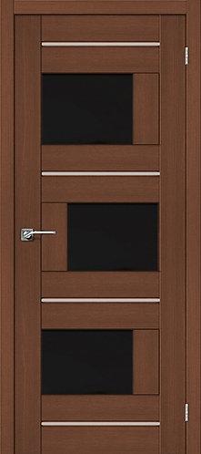 Межкомнатная дверь экошпон ST-3m Black / орех