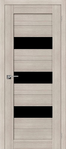 Межкомнатная дверь экошпон ST-8 Black / Cappuccino Veralinga