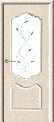 Межкомнатная дверь с покрытием ПВХ Анастасия ДО / беленый дуб