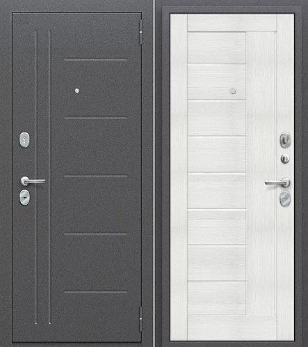 входная дверь Porta Проф (Антик Серебро/Bianco Veralinga)