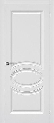 Межкомнатная дверь с покрытием ПВХ Скинни-20 / белый
