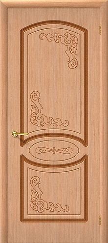 Межкомнатная дверь Азалия ДГ/ дуб