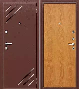 входная дверь Оптим Стандарт (Антик Медь/миланский орех)