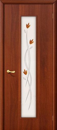 Ламинированная межкомнатная дверь Тиффани-2 / итальянский орех