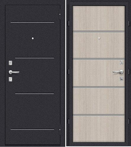 входная дверь Оптим Лайн (Лунный камень/Cappuccino Crosscut)