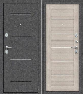 входная дверь Porta Техно (Антик Серебро/Cappuccino Veralinga)