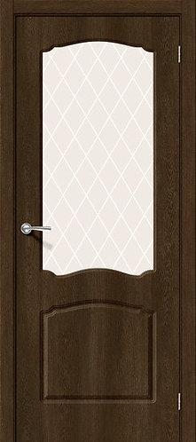 Межкомнатная дверь с покрытием ПВХ Альфа ДО /Dark Barnwood