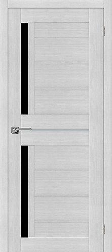 Межкомнатная дверь экошпон ST-5m Black / Bianco Veralinga
