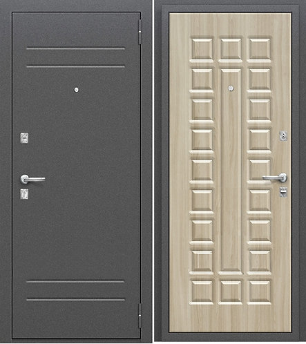 входная дверь Оптим Нова (Антик Медь/Шимо Светлый)