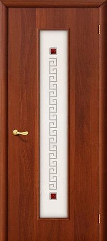 Ламинированная межкомнатная дверь Тиффани-1 / итальянский орех