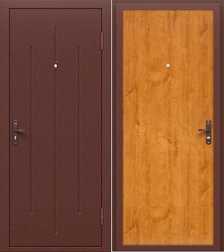 входная дверь СГ-5 (антик медь/золотистый дуб)