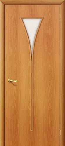 Ламинированная межкомнатная дверь Рюмка ДО / миланский орех