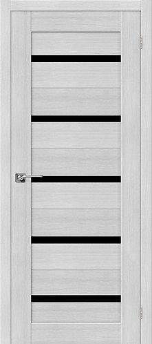 Межкомнатная дверь экошпон ST-1 Black / Bianco Veralinga