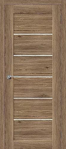 Межкомнатная дверь экошпон L-22 / Оригинальный дуб
