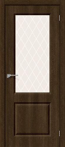 Межкомнатная дверь с покрытием ПВХ Скинни-13 /Dark Barnwood
