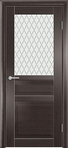Межкомнатная дверь экошпон ST-23 ДО / Wenge Veralinga