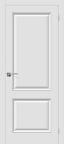 Межкомнатная дверь с покрытием ПВХ Скинни-12 / белый
