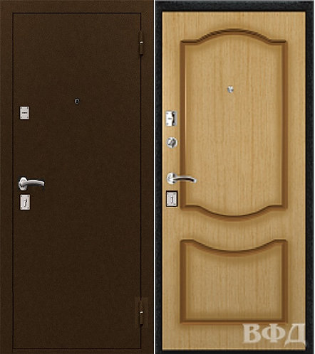 входная дверь ОПТИМА-2 ВФД шагрень коричневая