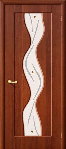 Межкомнатная дверь с покрытием ПВХ Вираж ДО / итальянский орех