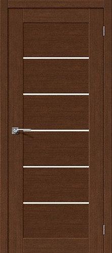 Межкомнатная дверь экошпон L-22 /Brown Oak