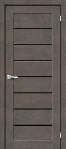 Межкомнатная дверь с покрытием 3D Б-22 /Brut Beton/Black