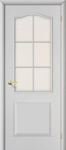 Ламинированная межкомнатная дверь Палитра ДО / белый