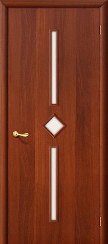 Ламинированная межкомнатная дверь Соло ДО / итальянский орех
