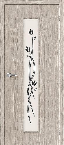 Межкомнатная дверь с покрытием 3D Т-14 / 3D Cappuccino