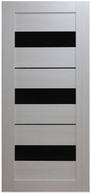Межкомнатная дверь экошпон ST-20 EKS Black / Bianco Veralinga