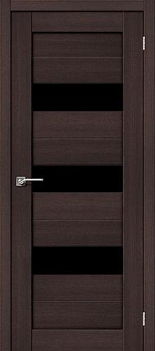 Межкомнатная дверь экошпон ST-8 Black / Wenge Veralinga