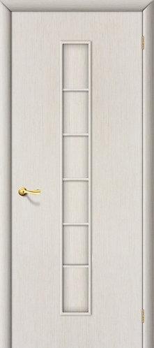 Ламинированная межкомнатная дверь Лесенка ДГ / беленый дуб
