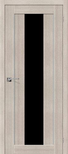Межкомнатная дверь экошпон ST-7m Black / Cappuccino Veralinga