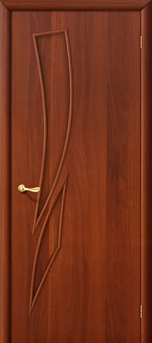 Ламинированная межкомнатная дверь Стрелица ДГ / итальянский орех