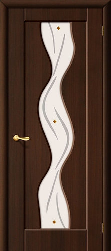 Межкомнатная дверь с покрытием ПВХ Вираж ДО /Dark Barnwood