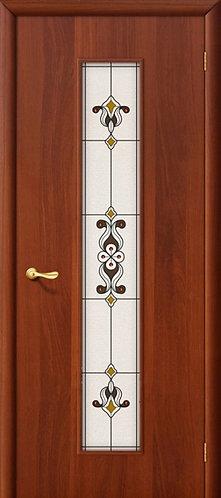 Ламинированная межкомнатная дверь Тиффани-3 / итальянский орех