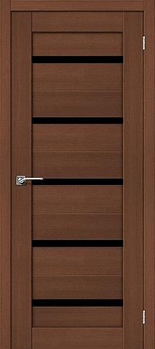 Межкомнатная дверь экошпон ST-1 Black / орех