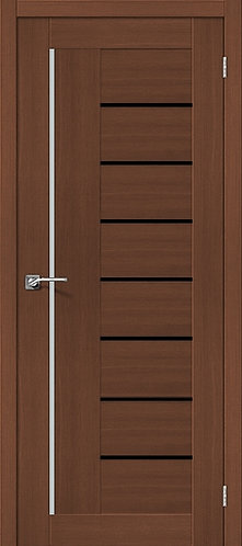 Межкомнатная дверь экошпон ST-9m Black / орех