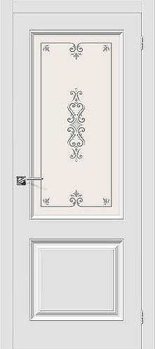 Межкомнатная дверь с покрытием ПВХ Скинни-13 / белый