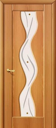 Межкомнатная дверь с покрытием ПВХ Вираж ДО / миланский орех
