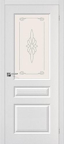 Межкомнатная дверь с покрытием ПВХ Скинни-15 / белый