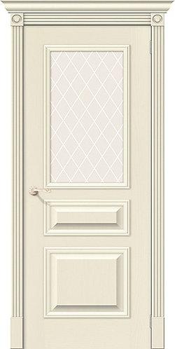 межкомнатная дверь натуральный шпон Вуд Классик-15.1/Whitey