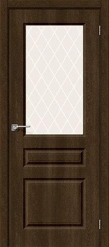 Межкомнатная дверь с покрытием ПВХ Скинни-15 /Dark Barnwood